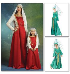 Medieval Gown Lady in Waiting Maid Marian Costume by TLCsTreasures