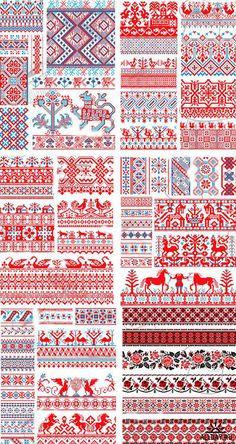 Русский орнамент вышивки