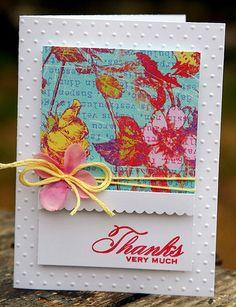 Pretty thanks card by @Shanna Freedman Vineyard