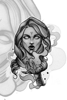 Neo Traditional Art, Best Sleeve Tattoos, Head Tattoos, Ancient Symbols, Woman Drawing, Future Tattoos, Portfolio, Woman Face, Tattoo Inspiration