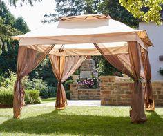 New Pop Up Canopy Tent w Netting 11u0027 x 11u0027 Gazebo Shade Vented Roof Bug Screen & Exterior: Nice Screened Rectangular Gazebo And Screened In Pop Up ...