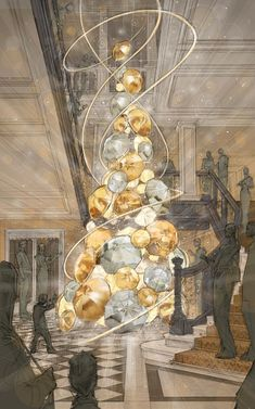 After the prototype by Christopher Bailey it's time to make it real.  See the true Christmas Tree in Claridge Hotel by Burberry Fashion Designer www.brabbu.com/en/news-events