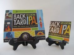 Back Yard IPA Beer Coaster Check out this product and may others at http://mancaveupcycle.com/shop/coasters/back-yard-ipa-beer-coaster/