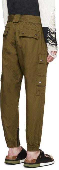 Diesel Green Sly Cargo Pants