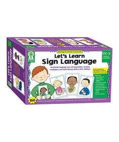 Look at this Let's Learn Sign Language Card Set on #zulily today!