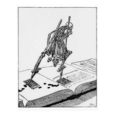 La Dance de la Mort postcard