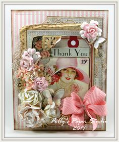"""Pollys Paper """"thank you"""" card"""