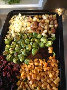 Roasted vegetables for soup Roasted Vegetables, Sprouts, Angels, Soup, Soups, Brussels Sprouts, Angel, Grilled Veggies, Chowder