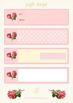 FREE printable vintage rose gift tags