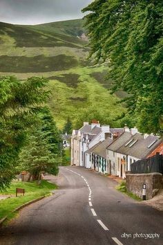Wanlockhead Dumfries-shire. Scotland's hightest village