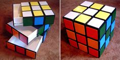 Rubik's Cube Chest of Drawers http://www.handimania.com/diy/rubiks-cube-chest-of-drawers.html