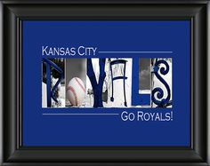 Kansas City Royals Baseball Alphabet Photography - i can do this for my dad and brother for Christmas
