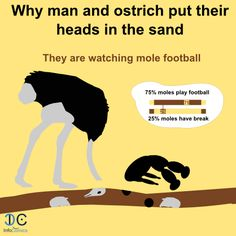 Putting head in the sand with ostrich | InfoComics