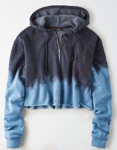 KangaROOS softes Sweater Damen Sweatshirt mit Dip-Dye-Effekt Pulli Grau//Blau