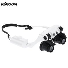 10x 15x 20x 25x Magnifying Glass with 2 LED Light Head Wearing Magnifier Double Eye Jeweler Watch Clock Repair Loupe microscope