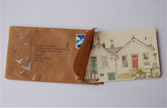 """Fisherman's Cottage, Mousehole"" by Helen Walter I love getting letters and mail"