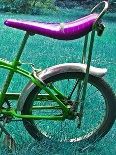 """I remember my version of the banana seat bike had gears on the """"crotch bar""""."""