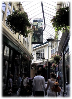 One of Cardiff's lovely shopping arcades
