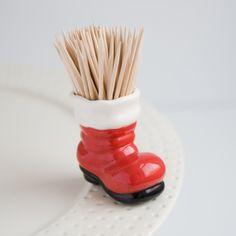 Nora Fleming Santa boot ornament mini. Get yours today at CiaoBellaShop.com!