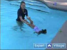 How to Hold and Infant in the Water.  Swimming Lessons.  Teaching Kids to Swim.