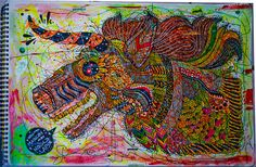 Unicorn by Ros Velez, via Behance
