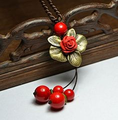 Ruimeng Luxury Ceramic Rose Pendant Long Sweater Necklace,Retro Red Agate Necklace Ruimeng http://www.amazon.com/dp/B00MJ1TK9A/ref=cm_sw_r_pi_dp_brKjub18BQCX1