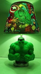 Marvel Avengers The Incredible Hulk Lamp Lampshade 17 inches Tall Xmas Gift | eBay