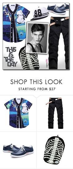 """""""Newchic (13/VII)"""" by dorinela-hamamci on Polyvore featuring men's fashion and menswear"""