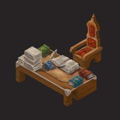 Desk of a wisdom man, Hueala Teodor