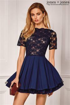 Jones & Jones Lace Top Prom Dress
