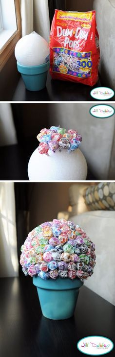 I have been looking for an inexpensive centerpiece for my upcoming gender reveal party. This idea would be both attractive and easy on my wallet! There is little effort in assembling this topiary, which is great because I need to make several! A full tutorial can be found at Meet The Dubiens. This is an …