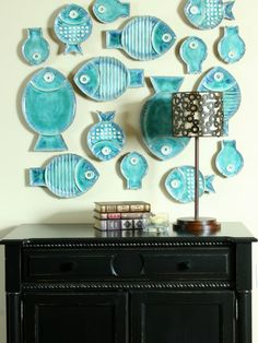 Love these fish!!  Lake Home Accessories | Lake House Decorating Design, Pictures, Remodel, Decor ... | Lake Hou ...