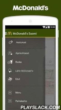 McDonald's Suomi  Android App - playslack.com , McDonald's Suomi -mobiiliapplikaatiosta löydät rahanarvoisia mobiilietuja! McDonald's-tilin avulla saat käyttöösi sekä ravintoloiden että yhteistyökumppaneidemme tarjoamat vaihtuvat edut.McDonald's Suomi -mobiiliapplikaatio löytää helposti sinua lähellä sijaitsevat ravintolat. Löydät myös ravintoloidon aukioloajat, yhteystiedot ja mikäli ravintolalla on autokaista tai mahdollisuus synttäreiden järjestämiseen.Tarjolla on lisäksi monipuolisesti…