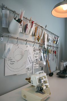 Clever way to organise sewing things