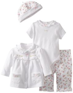 42% Off was $44.00, now is $25.62! Little Me Baby-girls Newborn Dainty Rose 4 Piece TMH Pant Set