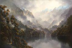 Into the south Tim Wilson - Artist Landscape Art, Landscape Paintings, Carl Spitzweg, Wilson Art, Different Forms Of Art, New Zealand Art, Artwork For Home, Artist Art, Beautiful Landscapes