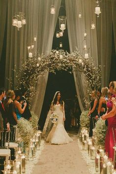 Wedding decorations church ceremony beautiful 27 i Ceremony Arch, Wedding Ceremony Decorations, Wedding Centerpieces, Wedding Venues, Church Decorations, Wedding Reception, Reception Entrance, Wedding Ideas, Wedding Themes
