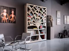Libreria a onda u idea immagine home
