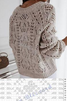 Knitting Stiches, Lace Knitting, Knitting Patterns, Knit Crochet, Crochet Patterns, Chunky Knitwear, Pulls, Knitting Projects, Lace Patterns