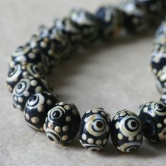 55 CENTS EACH ~ $5.50 FOR 10 9/14mm) ~~ Lampwork Rondelle Beads ~~ funkyprettybeads