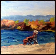 """Dude on the Beach"" - Original Fine Art for Sale - © kristen dukat"