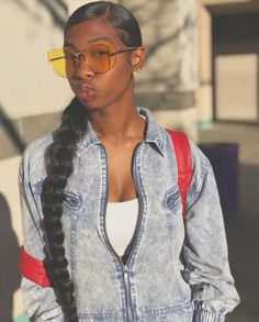 Large and Loose Braid with a High Pony - Braided Ponytail Hairstyles Natural Hair Ponytail, Slick Ponytail, Hair Ponytail Styles, Weave Ponytail Hairstyles, Baddie Hairstyles, Black Women Hairstyles, Girl Hairstyles, Curly Hair Styles, Natural Hair Styles