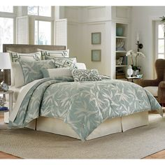 Tommy Bahama Bamboo Breeze 4-piece Comforter Set with Optional Euro Sham Separates - Overstock Shopping - Great Deals on Tommy Bahama Comforter Sets