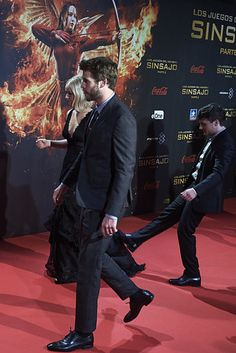 Watch Josh Hutcherson Try To Trip Jennifer Lawrence Up After She Fell Over
