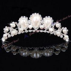 Coroa De Noiva Pérola Para Casamento Formatura Debutante