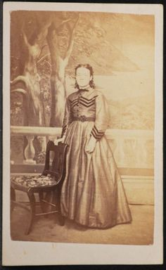 Lizzie Evans, Paris, Ontario, Canada, April 1869.  Info was written on back, there is no photographer info.
