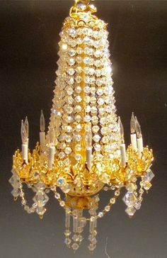 dollhouse crystal chandelier the Aubrienne by gerrysminis on Etsy, $400.00