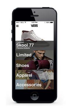 Vans Mobile App on App Design Served