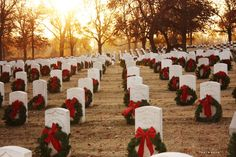 Fort Smith National Cemetery at Christmas time. Photo by Kala Rath