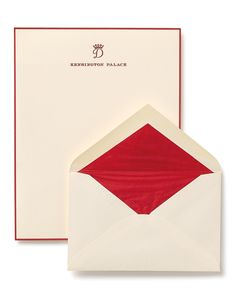 Inspired by the stationery of HH Prince Dhairyashilrao Gaekwar of Baroda from the 1920s, Diana, Princess of Wales commissioned her own private stationery.